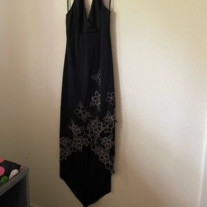 Gently used size L black halter dress by Rampage